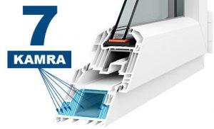Horizont PS7 légkamrásműanyag ablakok profil-50% AKCIÓ
