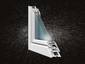 Horizont Ps Space 8 műanyag ablak profil -50% AKCIÓ középen felnyíló bukónyíló műanyag ablak