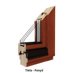Fenyő fa ablakablakcsere
