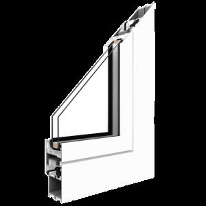 Alumínium ablak középen felnyíló bukónyíló műanyag ablak