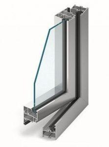 MB-45 Alumínium ablak középen felnyíló bukónyíló műanyag ablak