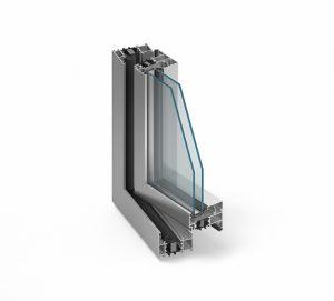 MB-70HI Alumínium ablak középen felnyíló bukónyíló műanyag ablak