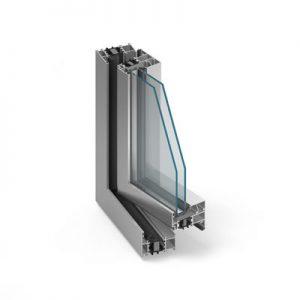 MB-70 Alumínium ablak középen felnyíló bukónyíló műanyag ablak