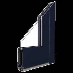 MB-70HI Alumínium ajtó profil Profil:Három kamrájú szerkezettel rendelkezik, 70 mm-es szerkezeti mélységgel.