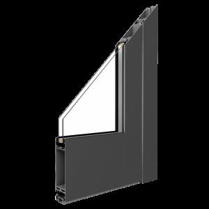 MB-45 Alumínium ajtó Profil:Alumínium profil 45 mm (váz) és 45 mm (szárny) beépítési mélységgel.