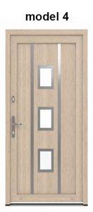 Modern műanyag bejárati ajtó