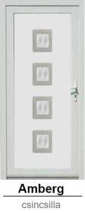 Akciós bejárati ajtók. Műanyag bejárati ajtók díszpanel - Amberg