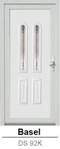 Akciós bejárati ajtók. Műanyag bejárati ajtók díszpanel - Basel