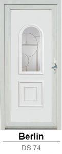 Akciós bejárati ajtók. Műanyag bejárati ajtók díszpanel - Berlin