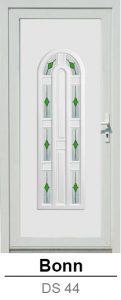 Akciós bejárati ajtók. Műanyag bejárati ajtók díszpanel - Bonn