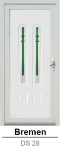 Akciós bejárati ajtók. Műanyag bejárati ajtók díszpanel - Bremen