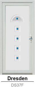 Akciós bejárati ajtók. Műanyag bejárati ajtók díszpanel - Dreseden