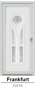 Akciós bejárati ajtók. Műanyag bejárati ajtók díszpanel - Frankfurt